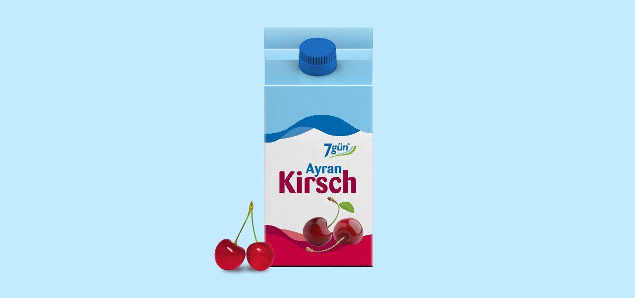 7gün Ayran Kirsch 500ml