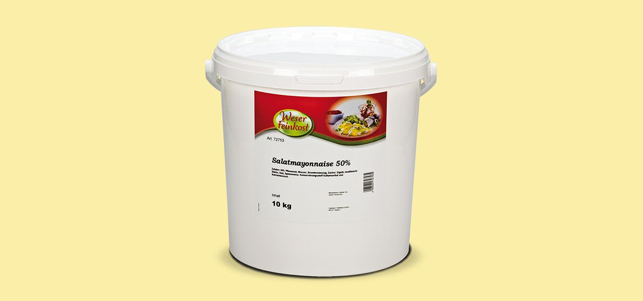Weser Feinkost Salatmayonaise 50 % Fett